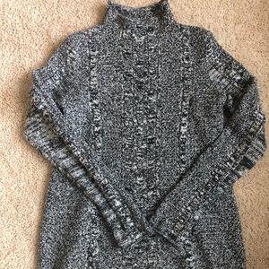 Gap mock neck marled sweater size M